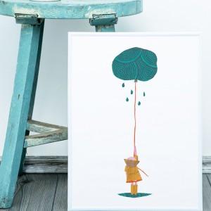 niña paraguas